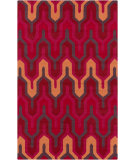 RugStudio presents Surya Brentwood BNT-7701 Burnt Orange / Hot Pink Hand-Hooked Area Rug