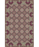 RugStudio presents Surya Bordeaux BRD-6019 Neutral / Green / Violet (purple) Hand-Tufted, Good Quality Area Rug