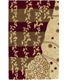 RugStudio presents Surya Bombay Bst-440 Burgundy Brown Hand-Tufted, Best Quality Area Rug