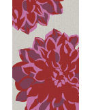 RugStudio presents Surya Budding BUD-2002 Neutral / Red / Pink / Violet (purple) Area Rug