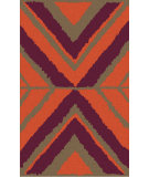 RugStudio presents Surya Calaveras CAV-4005 Eggplant / Burnt Orange Hand-Tufted, Good Quality Area Rug