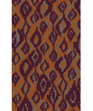 RugStudio presents Surya Calaveras CAV-4018 Eggplant / Burnt Orange Hand-Tufted, Good Quality Area Rug
