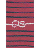 RugStudio presents Surya Cape Cod Ccd-1020 Cherry / Navy Machine Woven, Best Quality Area Rug