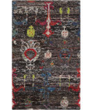 RugStudio presents Surya Chocho Cho-9000 Black Hand-Knotted, Good Quality Area Rug