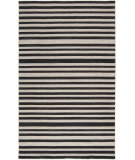 RugStudio presents Surya Calvin Clv-1020 Jet Black/ Bone Woven Area Rug
