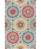RugStudio presents Surya Centennial Cnt-1102 Teal Hand-Hooked Area Rug