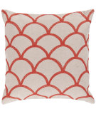 RugStudio presents Surya Pillows COM-009 Ivory/Poppy