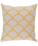 RugStudio presents Surya Pillows Com010 Ivory/Yellow