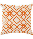 RugStudio presents Surya Pillows COM-015 Burnt Orange/Ivory