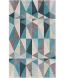 RugStudio presents Rugstudio Sample Sale 88082R Teal Blue Hand-Tufted, Best Quality Area Rug