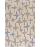 RugStudio presents Surya Decorativa Dcr-4001 Gray Hand-Tufted, Good Quality Area Rug