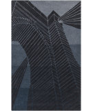 RugStudio presents Surya Destinations DTN-57 Coal Black/Midnight Blue Hand-Tufted, Good Quality Area Rug