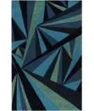 RugStudio presents Rugstudio Sample Sale 88147R Midnight Blue Hand-Tufted, Good Quality Area Rug