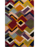 RugStudio presents Surya Envelopes ENV-5000 Green / Neutral / Orange / Red / Violet (purple) / Blue Area Rug