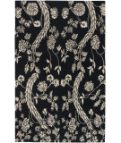 RugStudio presents Surya Everest Eve-3104 Tones Black-Cream Hand-Knotted, Good Quality Area Rug