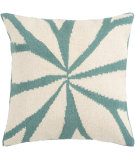 RugStudio presents Surya Pillows FA-003 Turquoise/Ivory