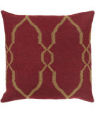 RugStudio presents Surya Pillows FA-019 Burgundy/Tan
