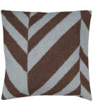 RugStudio presents Surya Pillows FA-033 Chocolate/Gray