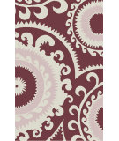 RugStudio presents Surya Fallon FAL-1115 Neutral / Pink / Burgundy Flat-Woven Area Rug