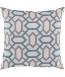 RugStudio presents Surya Pillows FF-008 Teal/Light Gray