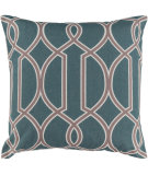 RugStudio presents Surya Pillows FF-013 Teal/Taupe