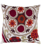 RugStudio presents Surya Pillows FF-028 Burgundy/Taupe