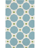 RugStudio presents Rugstudio Sample Sale 88333R Dark Robin's Egg Blue Woven Area Rug