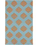 RugStudio presents Rugstudio Sample Sale 88341R Dark Robin's Egg Blue Woven Area Rug