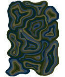 RugStudio presents Surya Hurricane HCN-3001 Blue / Green Hand-Hooked Area Rug