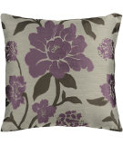 RugStudio presents Surya Pillows HH-048 Light Gray/Mauve