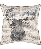 RugStudio presents Surya Pillows HH-116 Beige/Charcoal