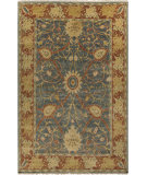 RugStudio presents Surya Hillcrest HIL-9016 Green / Orange / Yellow Hand-Knotted, Best Quality Area Rug