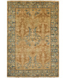 RugStudio presents Surya Hillcrest HIL-9019 Moss / Orange / Yellow Hand-Knotted, Best Quality Area Rug