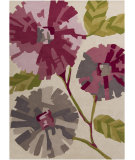 RugStudio presents Surya Harlequin HQL-8023 Neutral / Green / Violet (purple) Hand-Tufted, Good Quality Area Rug