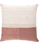 RugStudio presents Surya Pillows HSK-115 Beige/Cherry