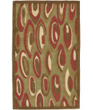 RugStudio presents Surya Naya Hst-3017 Green / Brown Hand-Tufted, Good Quality Area Rug