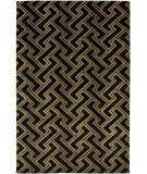 RugStudio presents Surya Mugal IN-8046 Black Beige Tan Hand-Knotted, Good Quality Area Rug