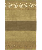 RugStudio presents Surya Mugal IN-8051 Beige Tan Olive Hand-Knotted, Good Quality Area Rug