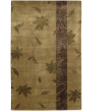 RugStudio presents Surya Mugal IN-8060 Tan Olive Plum Hand-Knotted, Good Quality Area Rug