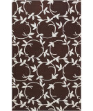 RugStudio presents Surya Inspired Classics INS-8003 Chocolate/Beige Hand-Hooked Area Rug