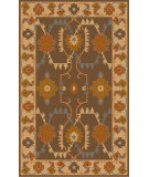 RugStudio presents Surya Jewel Tone Ii JTII-2056 Chocolate / Orange / Blue Flat-Woven Area Rug