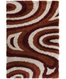 RugStudio presents Surya Los Angeles LAX-5007 Neutral / Orange / Red Area Rug