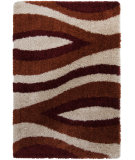 RugStudio presents Surya Los Angeles LAX-5010 Gray / Orange / Red Area Rug