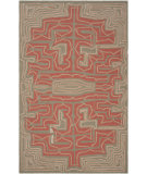 RugStudio presents Rugstudio Sample Sale 61503R Red Clay Hand-Hooked Area Rug