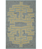 RugStudio presents Rugstudio Sample Sale 61505R Slate Blue Hand-Hooked Area Rug
