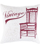 RugStudio presents Surya Pillows LG-540 Ivory/Cherry