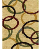 RugStudio presents Surya Majestic MAJ-1035 Neutral / Red / Green Machine Woven, Good Quality Area Rug