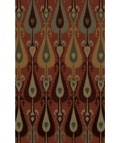 RugStudio presents Surya Matmi MAT-5458 Green / Neutral / Red / Violet (purple) Hand-Tufted, Good Quality Area Rug