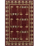RugStudio presents Surya Mentone MTO-7003 Maroon Hand-Tufted, Best Quality Area Rug