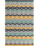 RugStudio presents Surya Native Ntv-7003 Teal Flat-Woven Area Rug